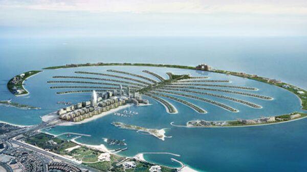 Искусственно созданные Пальмовые острова в Дубае