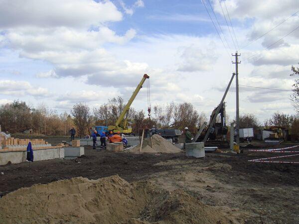 Строительство домов для погорельцев в селе Хреновое Воронежской области