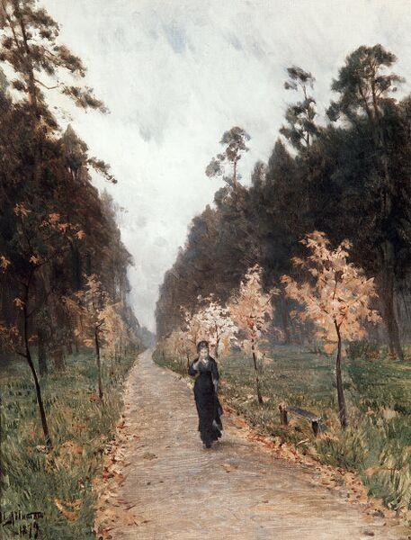 Картина И.Левитана  Осенний день. Сокольники. 1879 г.