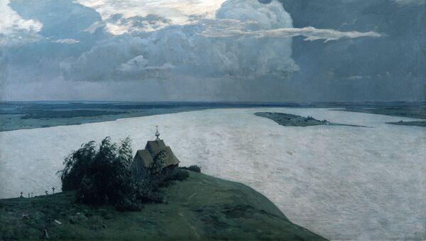 Картина Исаака Левитана Над вечным покоем. 1893-1894 гг.