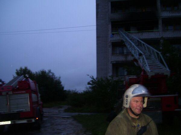 Пожар в доме-интернате в Тверской области