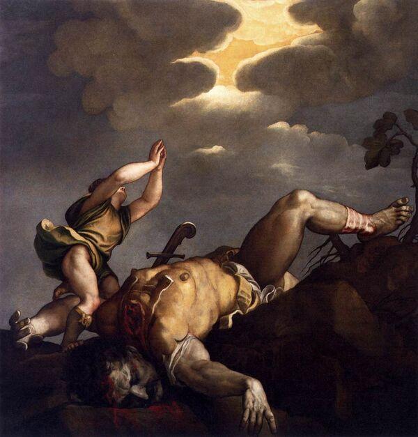 Картина Тициана Давид и Голиаф