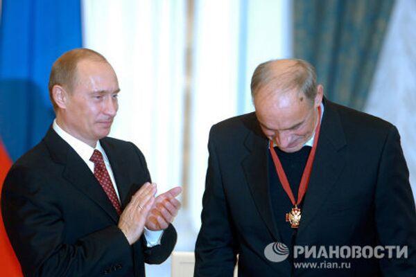 Владимир Путин и Валентин Гафт