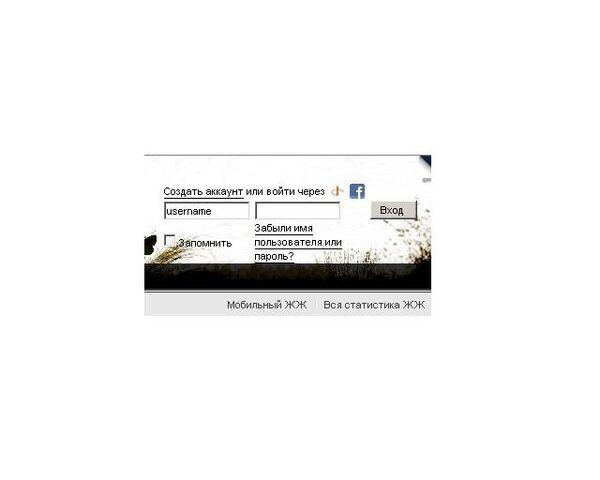 Скриншот входа в LiveJournal через Facebook-аккаунт