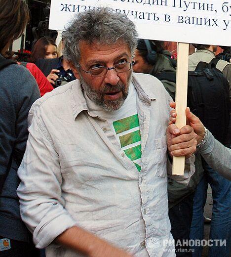 Глава нью-йоркского Центра гражданских свобод Александр Гольдфарб на митинге в поддержку Стратегии-31 в Лондоне
