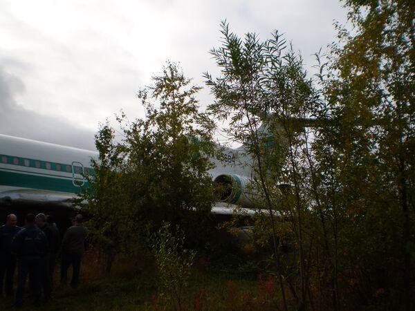 Аварийная посадка Ту-154м в Коми. Архив