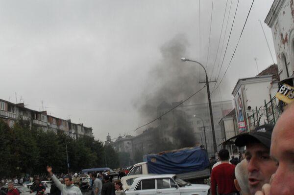 Взрыв произошел в центре Владикавказа 9 сентября 2010 г.