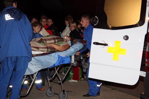 Самолет МЧС привез раненых из Владикавказа