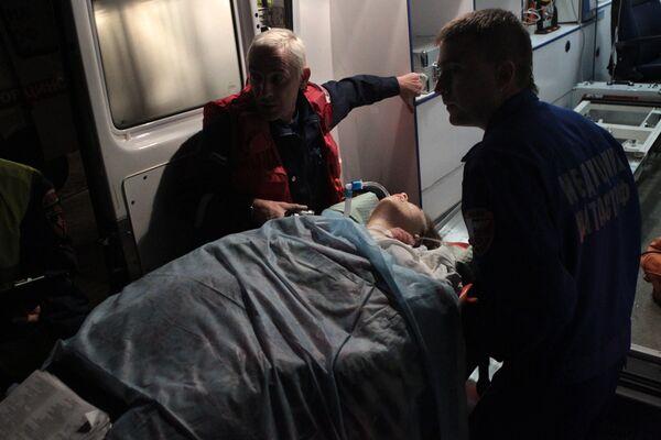 Самолет доставил пострадавших от теракта во Владикавказе в Москву