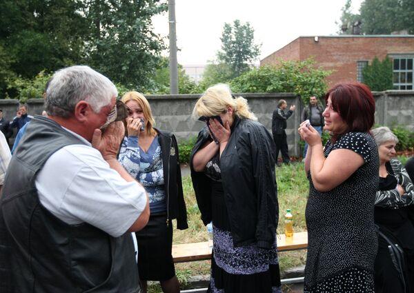 Родственники пострадавших от взрыва во Владикавказе