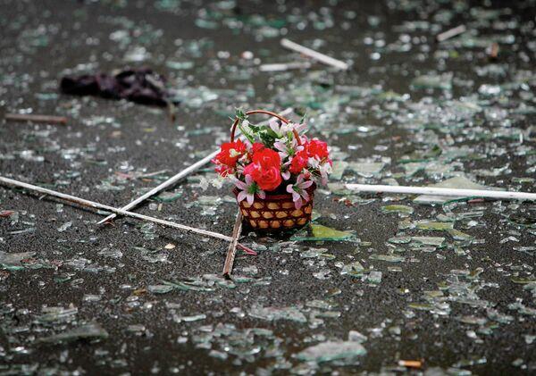На месте взрыва во Владикавказе