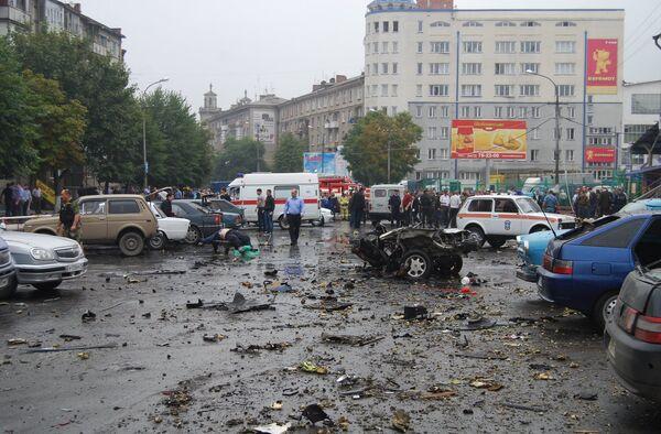 Взрыв возле центрального рынка во Владикавказе