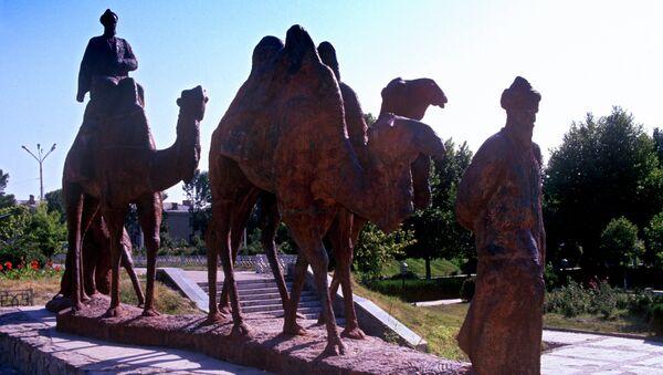 Скульптурная композиция Великий шелковый путь