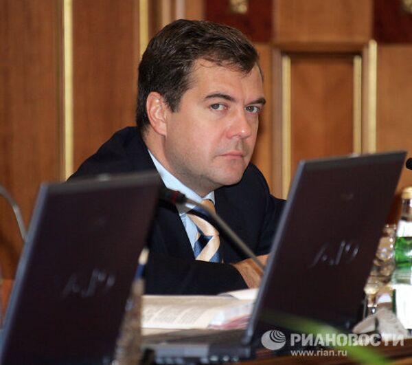 Д.Медведев на заседании правительства РФ