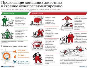 Проживание домашних животных в столице будет регламентировано