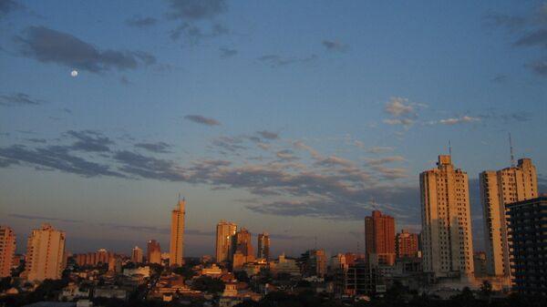 Рассвет в столице Парагвая Асунсьоне