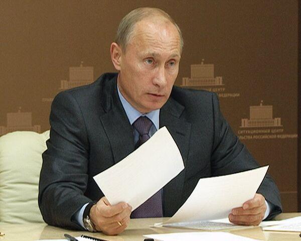 После посещения сгоревших сел Путин пригрозил губернаторам санкциями