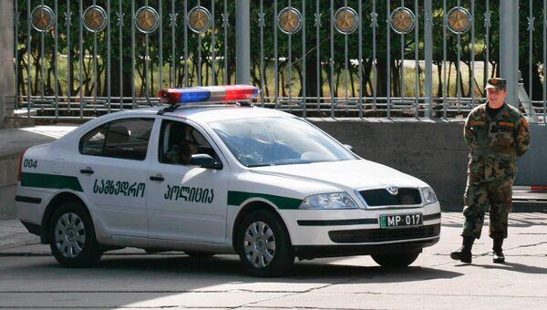 Сотрудник полиции Грузии. Архивное фото