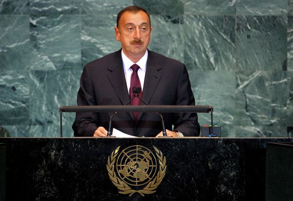 Президент Азербайджана Ильхам Алиев на общеполитической дискуссии 65-ой сессии Генеральной ассамблеи ООН