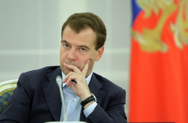 Президент РФ Д. Медведев провел встречу с российскими театральными деятелями