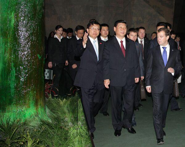 Дмитрий Медведев посетил павильон Китая на Всемирной универсальной выставке ЭКСПО-2010 в Шанхае