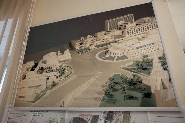 Схема строящегося депозитарного комплекса Музеев Кремля