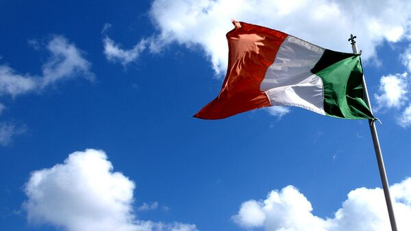 Флаг Ирландии. Архивное фото