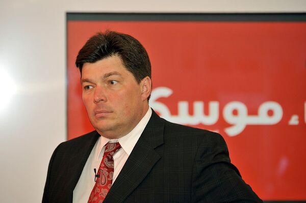 Председатель комитета по международным делам Совета Федерации РФ Михаил Маргелов на презентации газеты Анба Моску в Лондоне