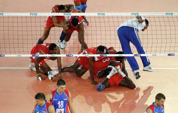 Сборная Кубы переиграла команду Сербии в полуфинале чемпионата мира по волейболу