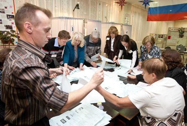 Подсчет голосов после выборов. Архив