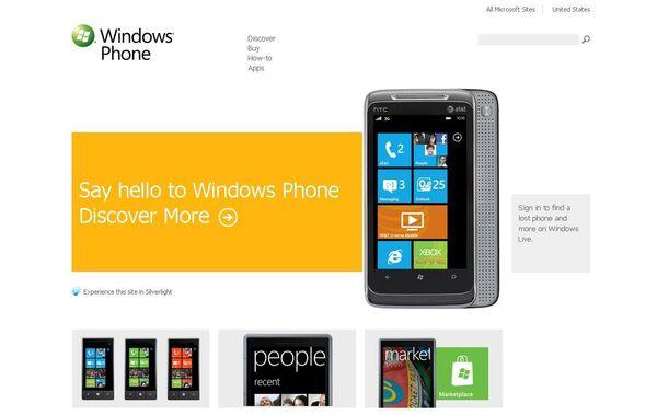 Microsoft представила платформу для смартфонов Windows Phone 7