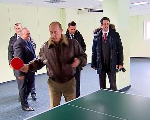 Путин сыграл в пинг-понг за Полярным кругом