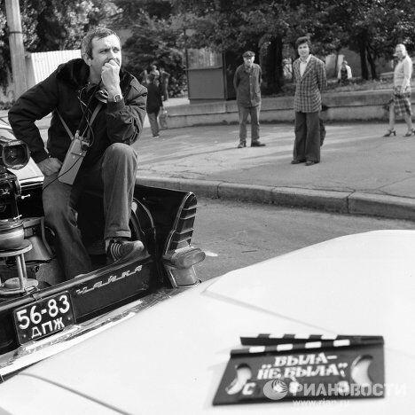 Никита Михалков на съемках фильма Родня
