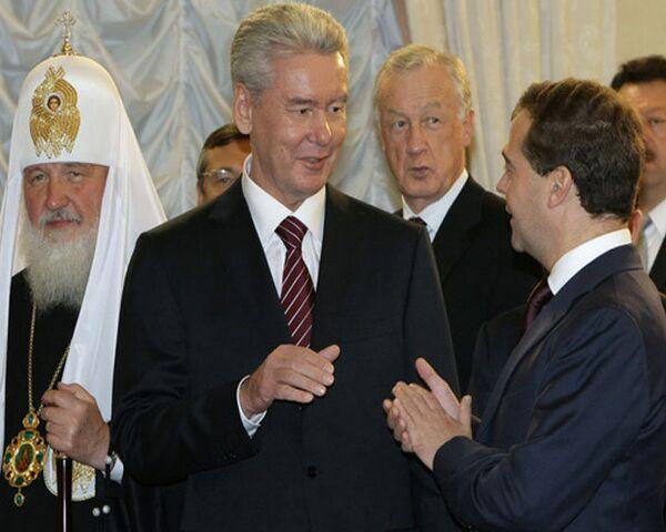 Медведев ждет от Собянина добросовестного служения москвичам
