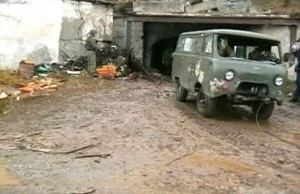 Поиск боевиков в заброшенной шахте в Кабардино-Балкарии