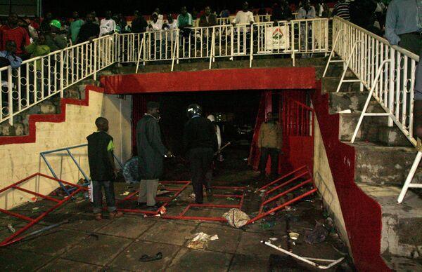 Давка на футбольном стадионе в Кении