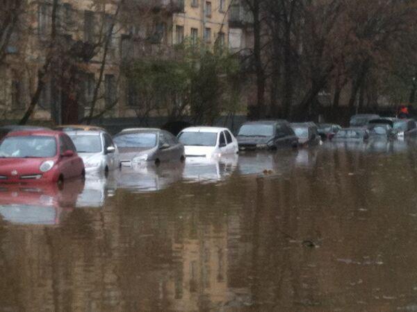 Прорыв водопровода в Москве