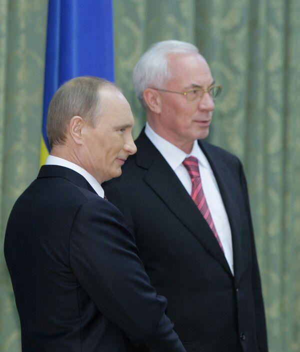 Встреча премьер-министров РФ и Украины