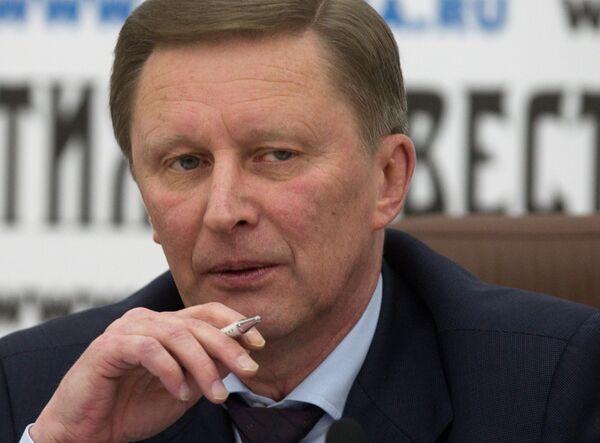 Вице-премьер РФ Сергей Иванов