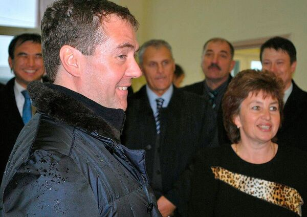 Дмитрий Медведев в ходе визита на остров Кунашир