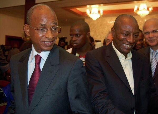 Кандидаты в президенты Гвинеи Селлу Далейн Диалло и Альфа Конди