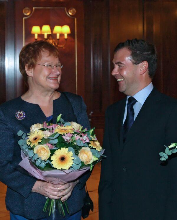 Неформальная встреча президентов России и Финляндии Д.Медведева и Т.Халонен