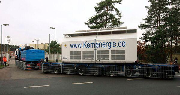 Контейнеры с ядерными отходами прибыли в Германию