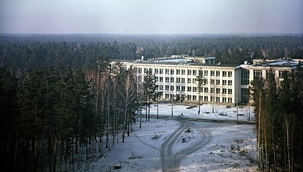 Вид на здание Новосибирского государственного университета. Архив