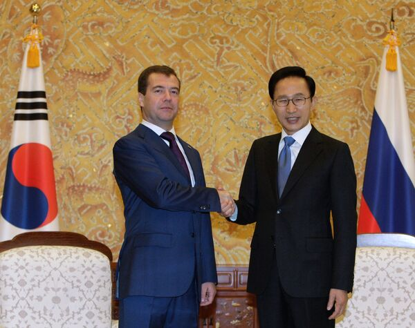Встреча Дмитрия Медведева и Ли Мен Бака