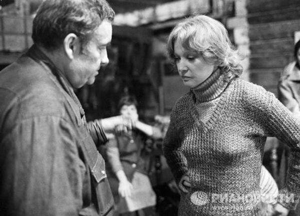 Рязанов и Гурченко на съемках фильма