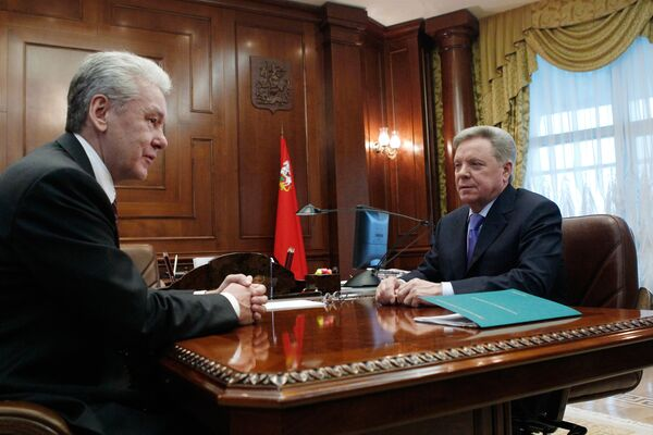 Встреча мэра Москвы Сергея Собянина и губернатора Подмосковья Бориса Громова