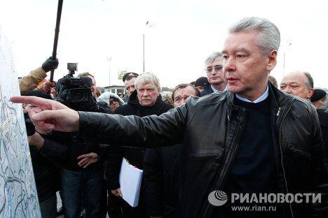 Объезд мэра Москвы Сергея Собянина транспортной инфраструктуры города