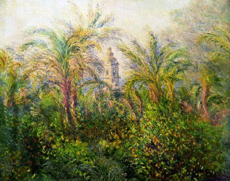 Картина Клода Моне Сад в Бордигере, утро