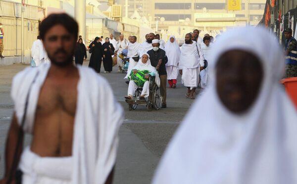Мусульманские паломники во время хаджа